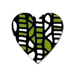 Green Decor Heart Magnet by Valentinaart