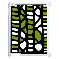 Green Decor Apple Ipad 2 Case (white) by Valentinaart