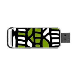 Green Decor Portable Usb Flash (two Sides) by Valentinaart