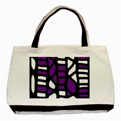 Purple Decor Basic Tote Bag by Valentinaart
