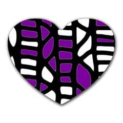 Purple Decor Heart Mousepads by Valentinaart