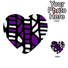 Purple Decor Multi Purpose Cards (heart)  by Valentinaart