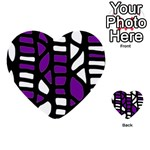 Purple decor Multi-purpose Cards (Heart)  Back 32