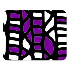 Purple Decor Double Sided Flano Blanket (large)  by Valentinaart