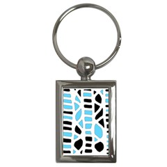 Light Blue Decor Key Chains (rectangle)  by Valentinaart