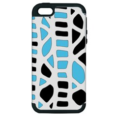 Light Blue Decor Apple Iphone 5 Hardshell Case (pc+silicone) by Valentinaart