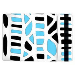 Light Blue Decor Ipad Air Flip by Valentinaart