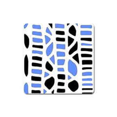 Blue Decor Square Magnet by Valentinaart