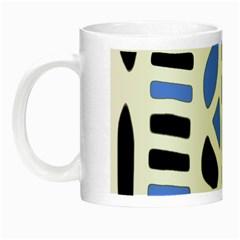 Blue Decor Night Luminous Mugs by Valentinaart