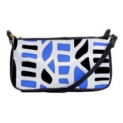 Blue Decor Shoulder Clutch Bags by Valentinaart