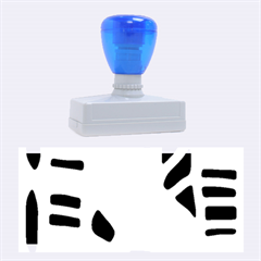 Blue Decor Rubber Stamps (large) by Valentinaart