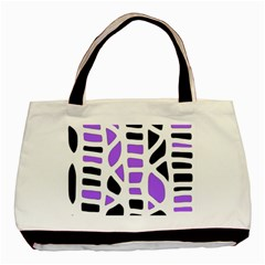 Purple Abstract Decor Basic Tote Bag (two Sides) by Valentinaart