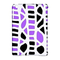 Purple Abstract Decor Apple Ipad Mini Hardshell Case (compatible With Smart Cover) by Valentinaart