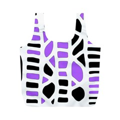 Purple Abstract Decor Full Print Recycle Bags (m)  by Valentinaart
