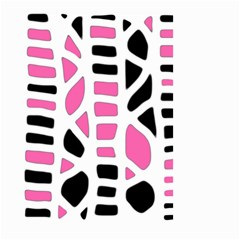 Pink Decor Small Garden Flag (two Sides) by Valentinaart