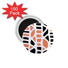 Orange Decor 1 75  Magnets (100 Pack)  by Valentinaart