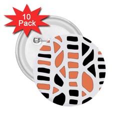Orange Decor 2 25  Buttons (10 Pack)  by Valentinaart
