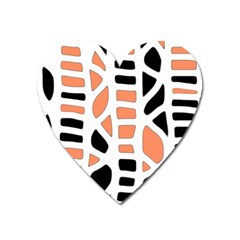Orange Decor Heart Magnet by Valentinaart