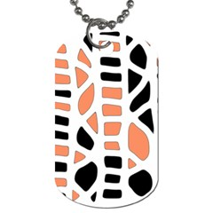 Orange Decor Dog Tag (one Side) by Valentinaart