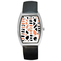 Orange Decor Barrel Style Metal Watch by Valentinaart