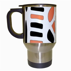 Orange Decor Travel Mugs (white) by Valentinaart