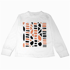 Orange Decor Kids Long Sleeve T Shirts by Valentinaart