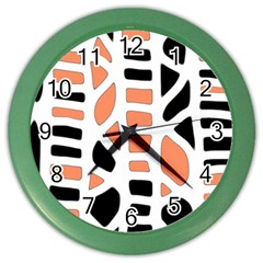 Orange Decor Color Wall Clocks by Valentinaart