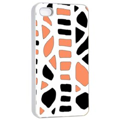 Orange Decor Apple Iphone 4/4s Seamless Case (white) by Valentinaart