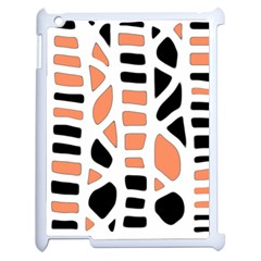 Orange Decor Apple Ipad 2 Case (white) by Valentinaart