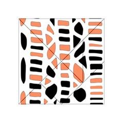 Orange decor Acrylic Tangram Puzzle (4  x 4 ) by Valentinaart