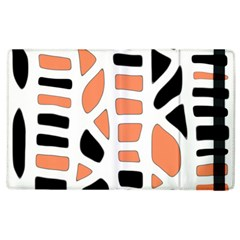 Orange Decor Apple Ipad 2 Flip Case by Valentinaart
