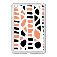 Orange Decor Apple Ipad Mini Case (white) by Valentinaart