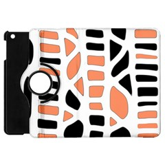 Orange Decor Apple Ipad Mini Flip 360 Case by Valentinaart