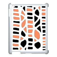 Orange Decor Apple Ipad 3/4 Case (white) by Valentinaart