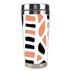 Orange Decor Stainless Steel Travel Tumblers by Valentinaart