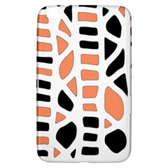 Orange Decor Samsung Galaxy Tab 3 (8 ) T3100 Hardshell Case  by Valentinaart