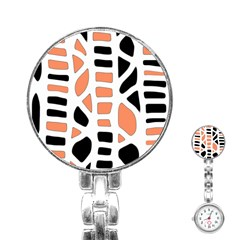 Orange Decor Stainless Steel Nurses Watch by Valentinaart