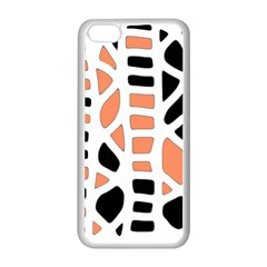 Orange Decor Apple Iphone 5c Seamless Case (white) by Valentinaart