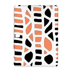 Orange Decor Samsung Galaxy Note 10 1 (p600) Hardshell Case by Valentinaart
