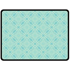 Light Blue Lattice Pattern Fleece Blanket (large)  by TanyaDraws