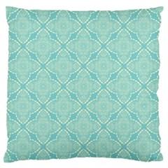Light Blue Lattice Pattern Standard Flano Cushion Case (one Side) by TanyaDraws