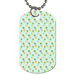 Tropical Watercolour Pineapple Pattern Dog Tag (one Side) by TanyaDraws