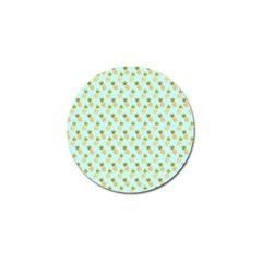 Tropical Watercolour Pineapple Pattern Golf Ball Marker (10 Pack) by TanyaDraws