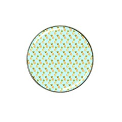 Tropical Watercolour Pineapple Pattern Hat Clip Ball Marker (4 Pack) by TanyaDraws