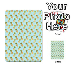 Tropical Watercolour Pineapple Pattern Multi Purpose Cards (rectangle)