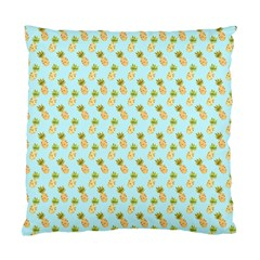 Tropical Watercolour Pineapple Pattern Standard Cushion Case (one Side) by TanyaDraws