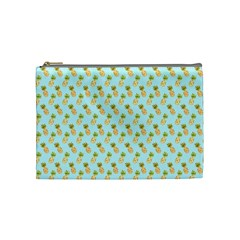 Tropical Watercolour Pineapple Pattern Cosmetic Bag (medium)