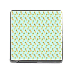 Tropical Watercolour Pineapple Pattern Memory Card Reader (square) by TanyaDraws