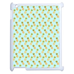 Tropical Watercolour Pineapple Pattern Apple Ipad 2 Case (white) by TanyaDraws