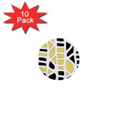Yellow Decor 1  Mini Buttons (10 Pack)  by Valentinaart